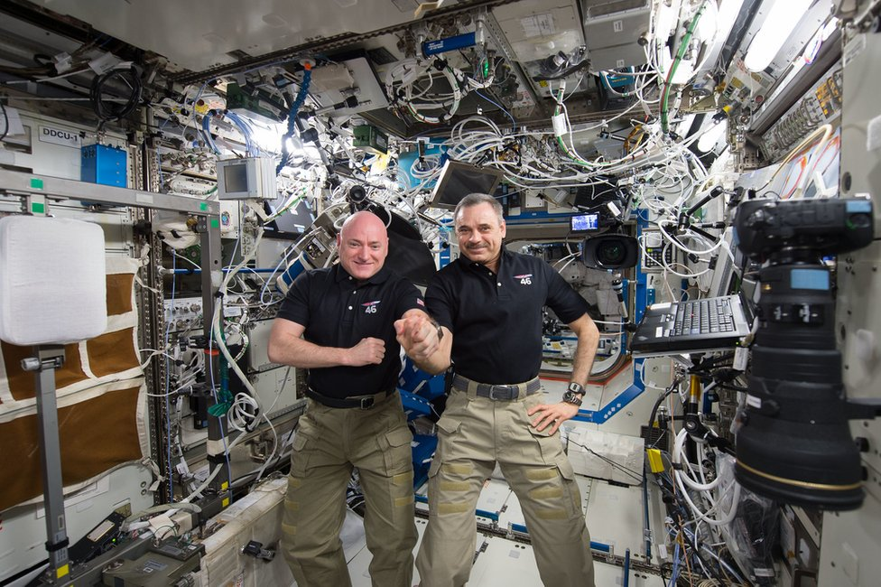 Scott Kelly and Mikhail Kornienko both spent a year aboard the ISS