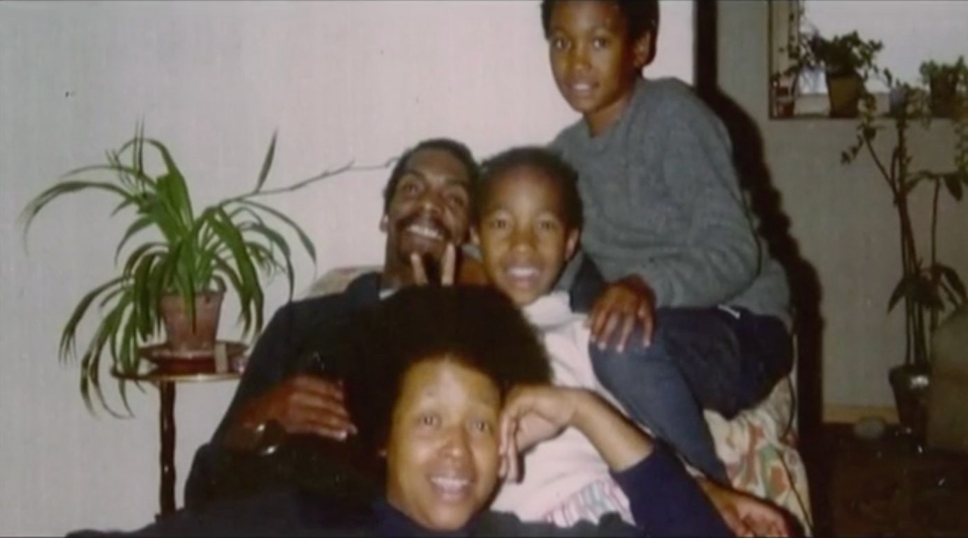 Melvin reunited with the family after his release from jail