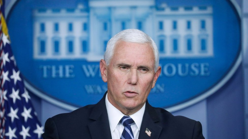 US Vice-President Mike Pence at the White House (file photo)