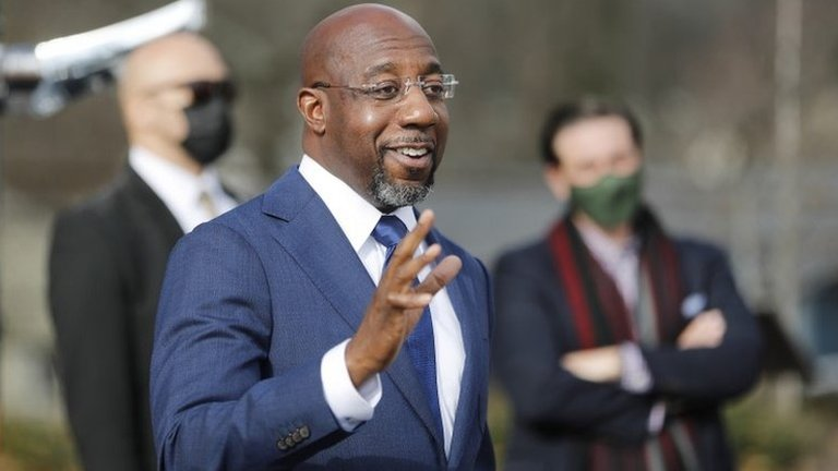 Raphael Warnock, Democratic Senator-elect for Georgia