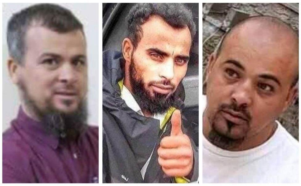 محمد الکانی (دائیں) اور دو اہم قاتل، محسن اور عبد الرحیم