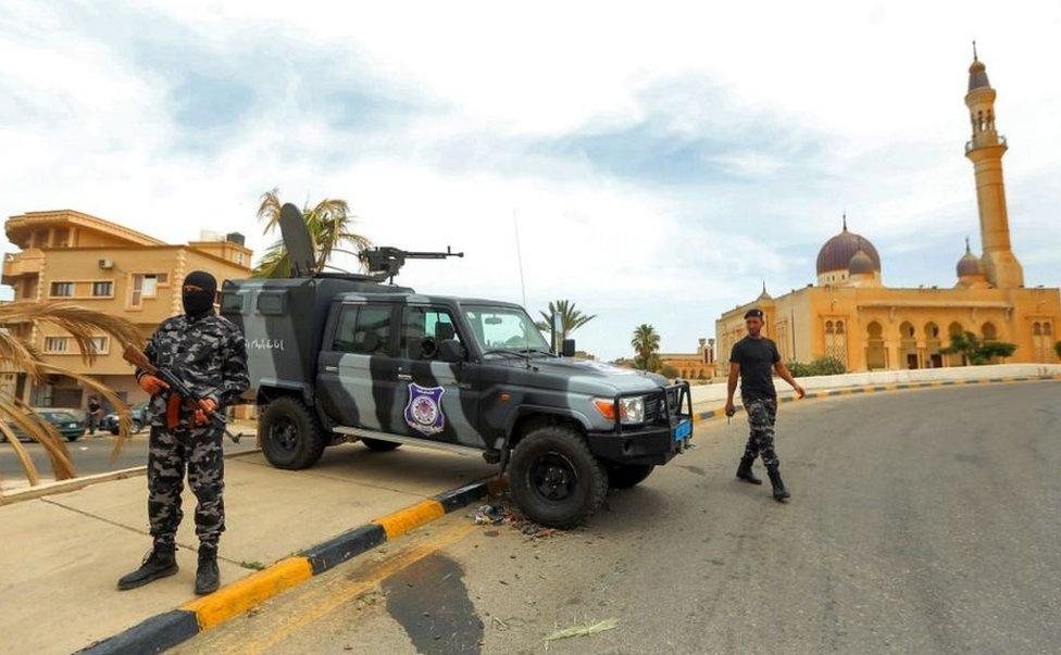 جون 2020 میں الکانی اور جنرل ہفتار کو بے دخل کرنے کے بعد شہر میں قائم ایک چوکی