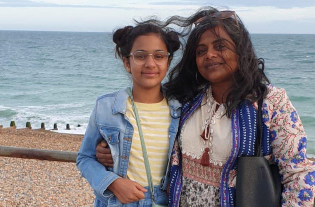 Farah and her daughter