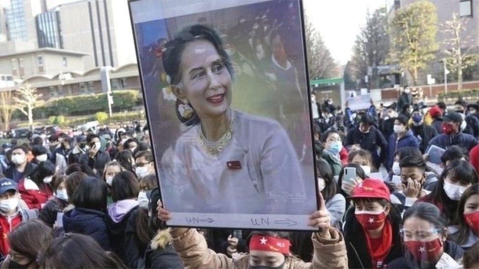 میانمار میں فوجی بغاوت سے آنگ سان سوچی کی سویلین حکومت گِرا دی گئی تھی