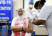 بھارت میں کرونا ویکسی نیشن مہم کا دائرہ وسیع، وزیرِ اعظم مودی نے بھی ٹیکہ لگوا لیا
