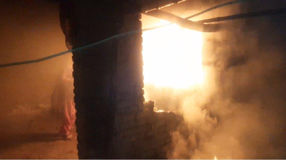 لڑکی کے گھر میں آگ لگنے کا واقعہ