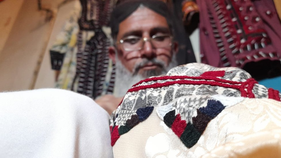 حفیظ اللہ، کوئٹہ، کشیدہ کاری، بلوچستان