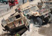 افغان فورسز کی امریکی ساختہ 'ہم وی' جیپ پاکستان کی تحویل میں