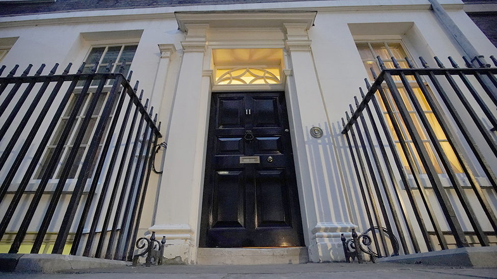 Outside 11 Downing Street