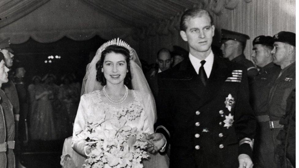 شہزادہ فلپ اور ملکہ برطانیہ کی شادی