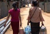 میانمار میں فوجی بغاوت: شہری تشدد سے بچنے کے لیے انڈیا میں پناہ لے رہے ہیں