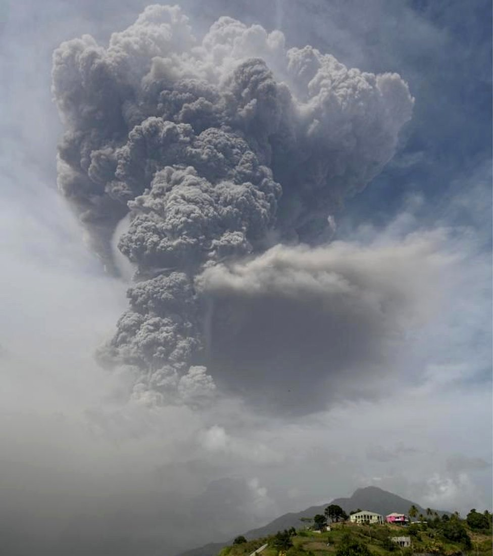 Volcano of Saint Vincent and the Grenadines registers a second major eruption