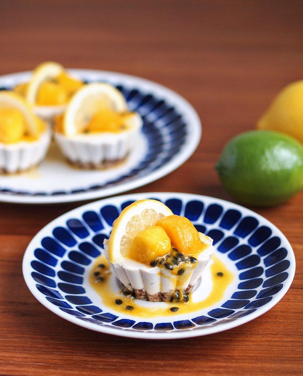 Tropical citrus raw vegan cheesecake