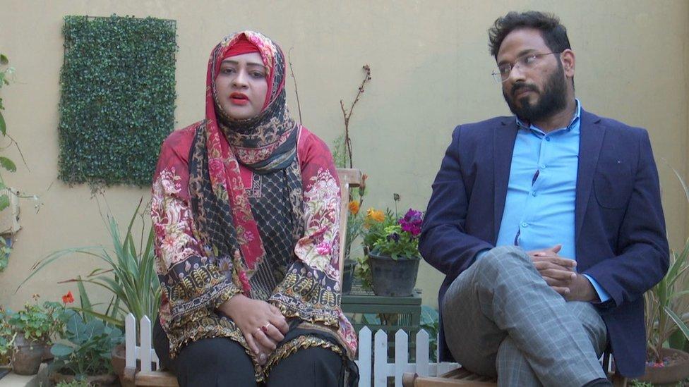 ڈاکٹر ثنا اور ان کے شوہر حبیب الرحمان