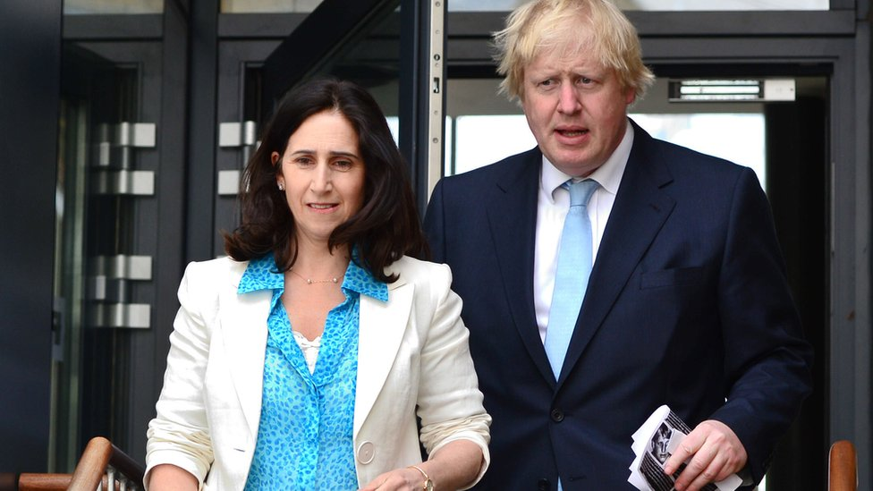 Boris Johnson and ex-wife Marina Wheeler. The Prime Minister and estranged wife have reached an agreement relating to money following their separation two years ago, a family court judge in London has been told.