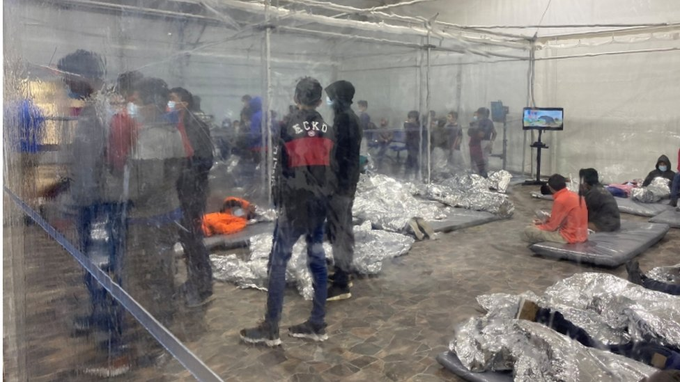 migrant kids in camps