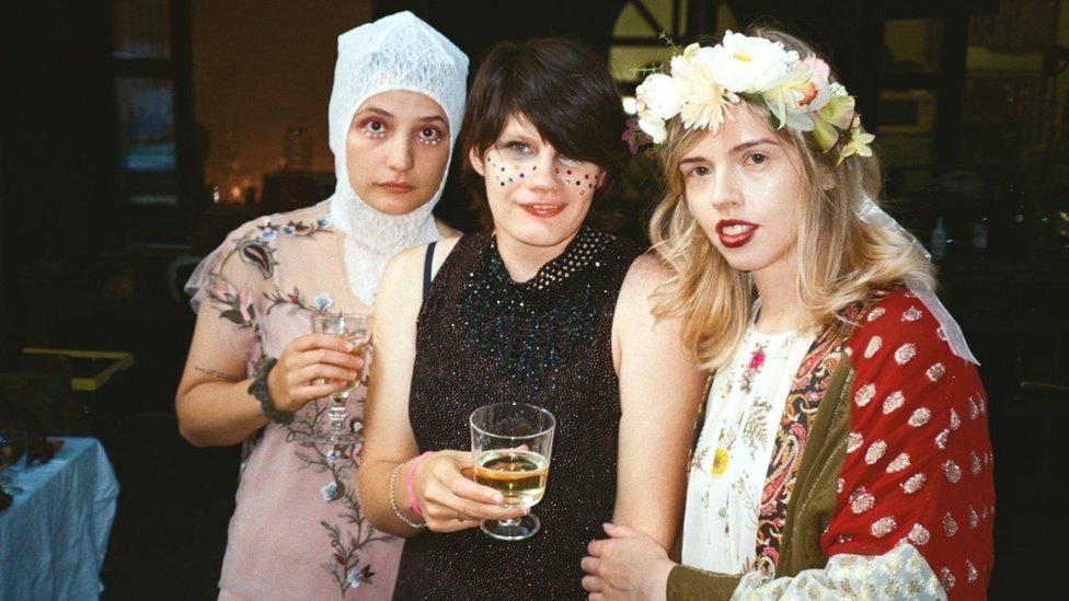 Nina and Arina at a fancy dress party