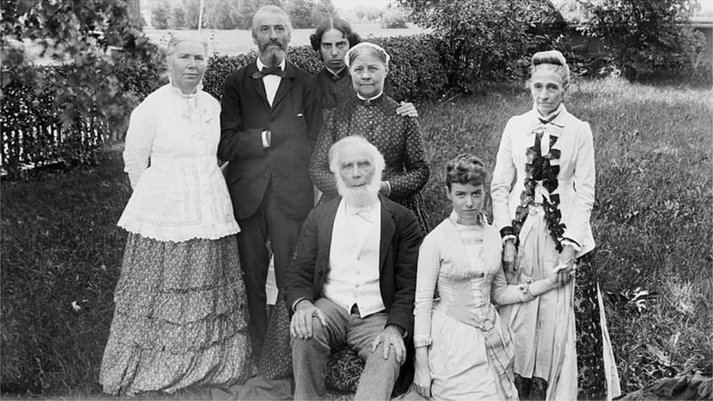 Dr. Elizabeth Blackwell with her family.
