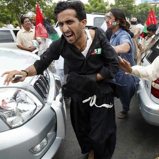 ایک زخمی سیاسی کارکن