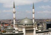ترکی: اردوغان نے جمعے کو عثمانی طرز تعمیر اور عصری ڈیزائن والی تقسیم سکوائر کی متنازع مسجد کا افتتاح کیا
