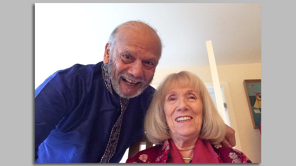 Praful with his wife, Lizzie