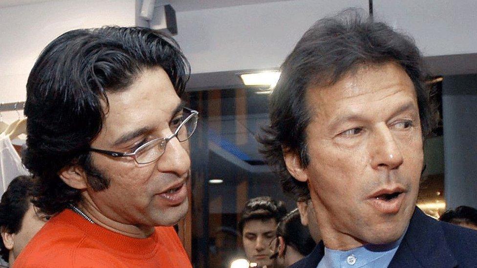 عمران خان، وسیم اکرم