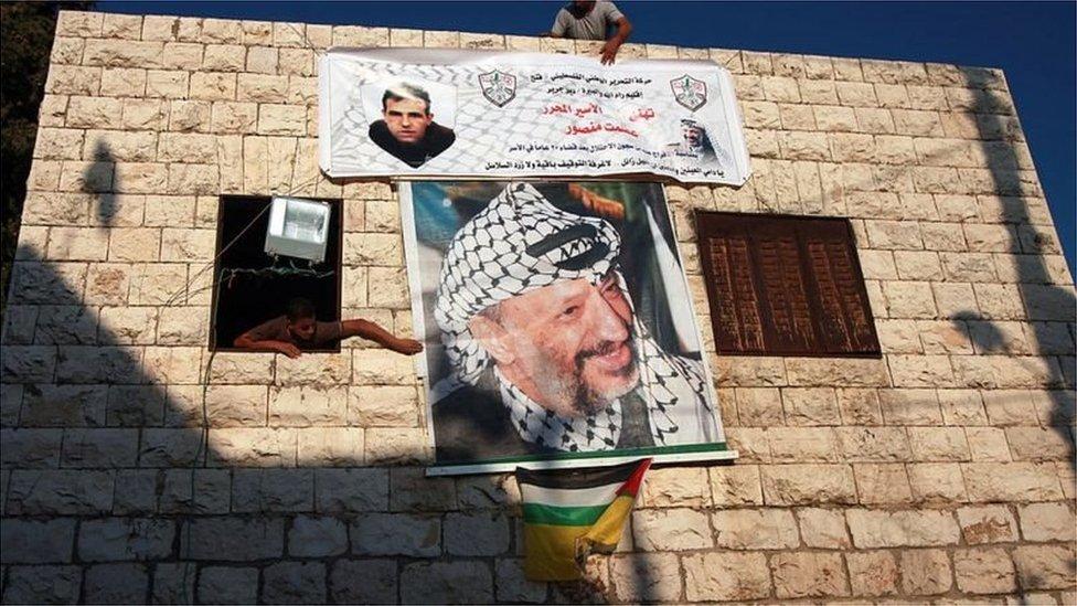 فلسطینی رہنما یاسر عرفات کا پوسٹر
