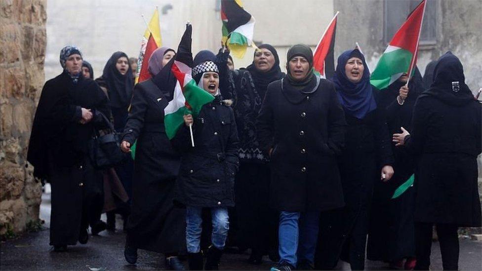 فلسطین مظاہرین