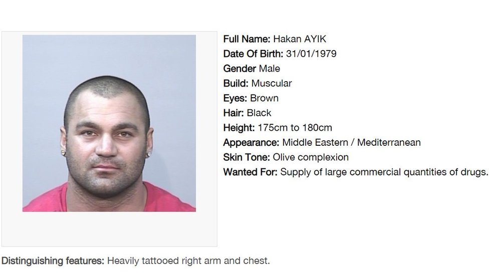 Screenshot of website shows his details listed on Most Wanted list entry on NSW website