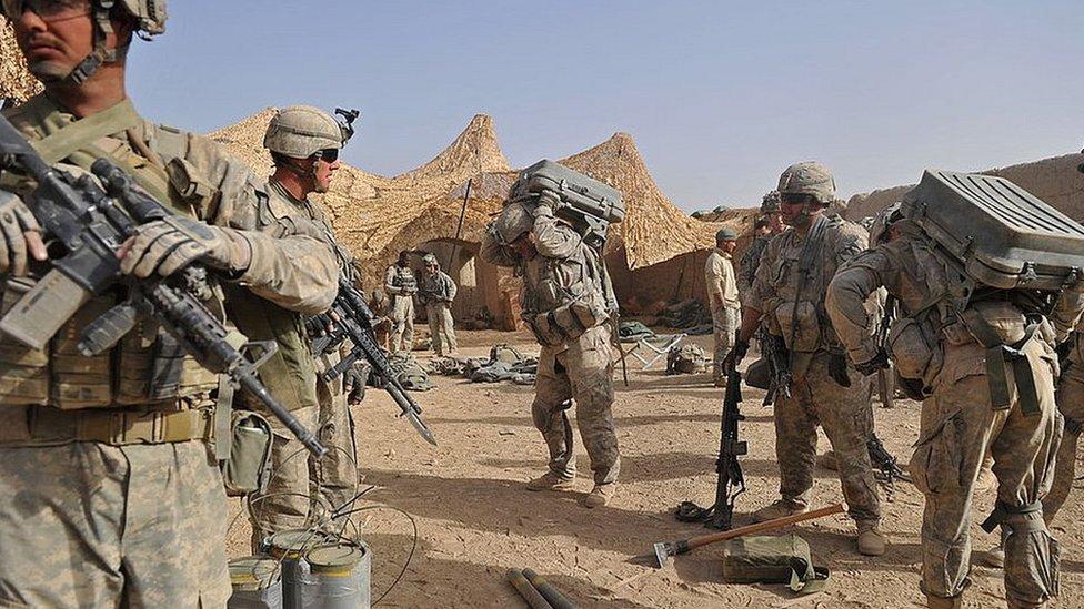 قندھار میں امریکی افواج