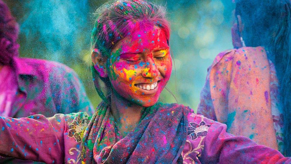 Holi festival of Hindus