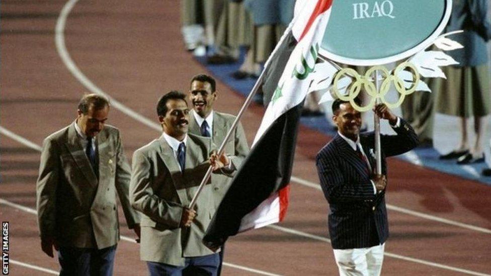 رائد احمد، اولمپکس، عراق، صدام حسین، امریکہ