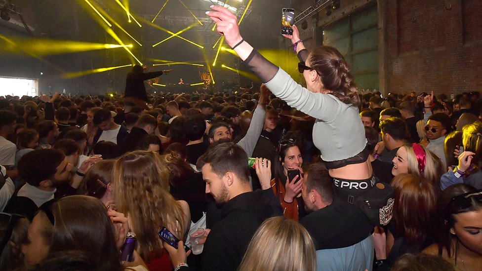 People clubbing in Liverpool