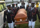 ہیٹی کے مقتول صدر کی آخری رسومات پر ہنگامہ آرائی، سیکیورٹی اہلکاروں کا آنسو گیس کا استعمال