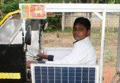 سری لنکا کا 'نوجوان انجینیئر': 15 سالہ لڑکا جس نے کباڑ اور دھاتی ٹکڑوں سے شمسی توانائی پر چلنے والا ٹُک ٹاُک رکشہ بنا لیا