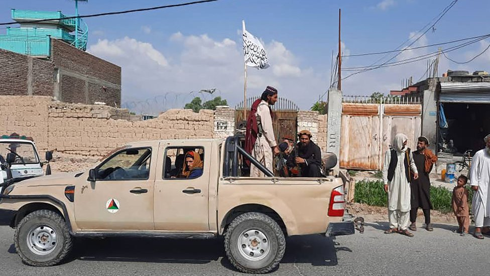 Taliban fighters in Laghman province on 15 August 2021
