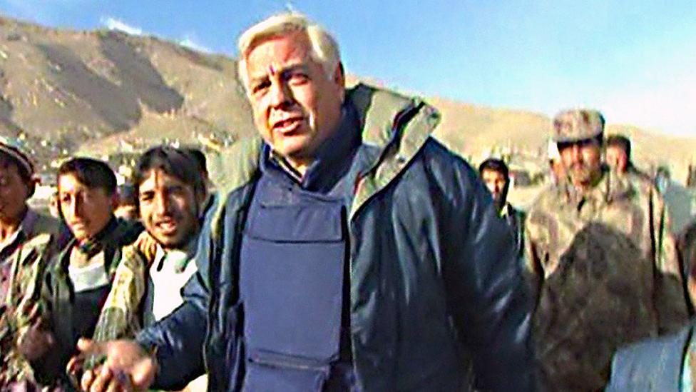 John Simpson in Afghanistan in 2001