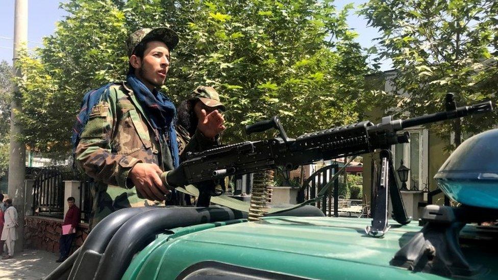 Taliban forces patrol in Kabul, Afghanistan, August 16, 2021