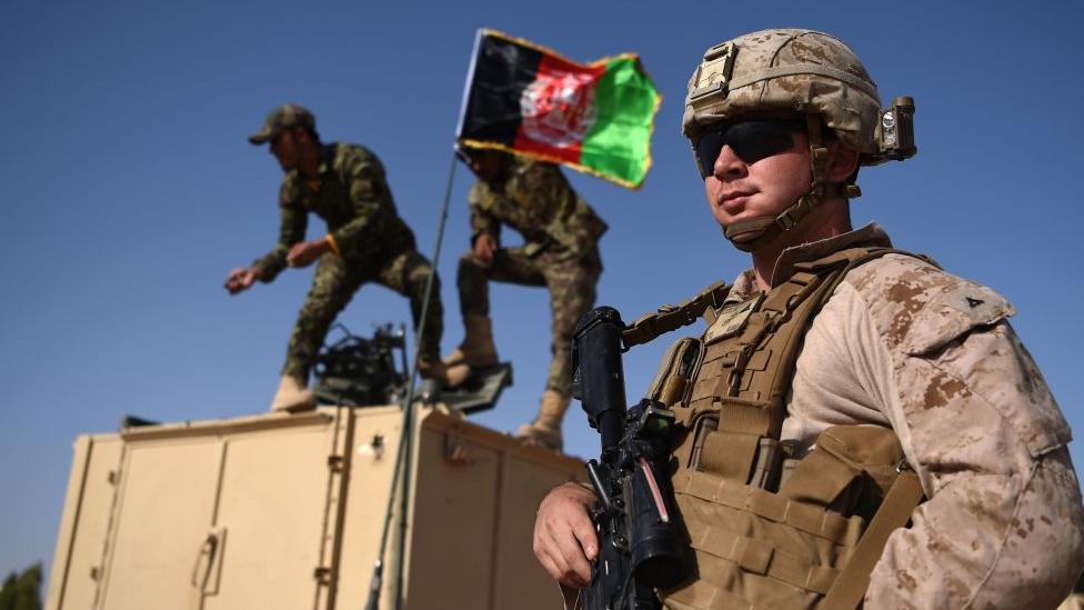 امریکی فوجی افغان فوجی