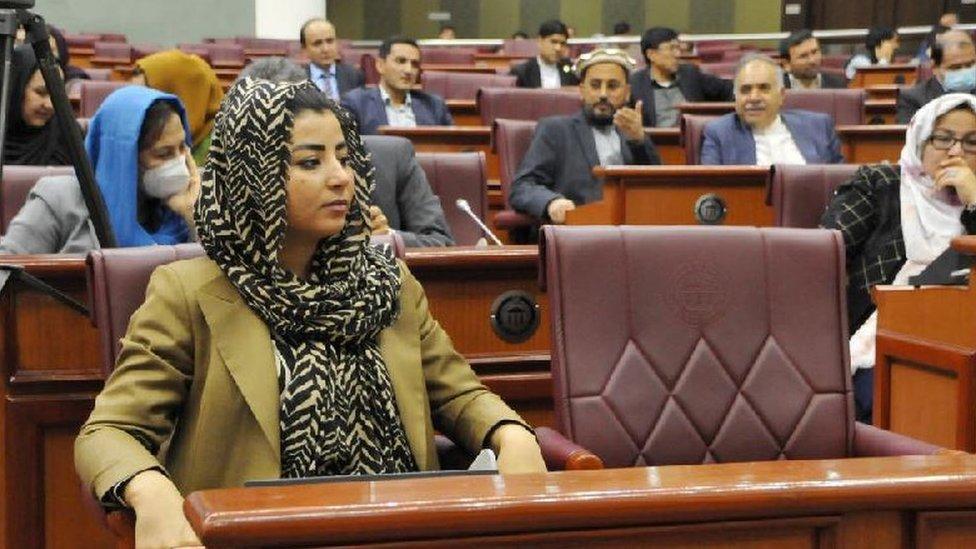 Farzhana Kochai in parliament