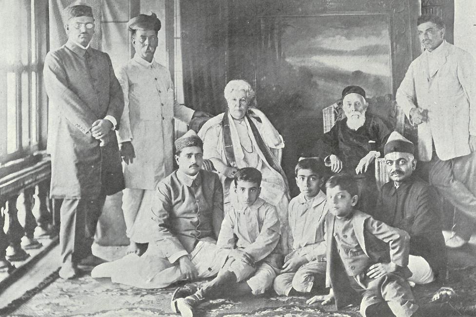 Dadabhai Naoroji with Annie Besant