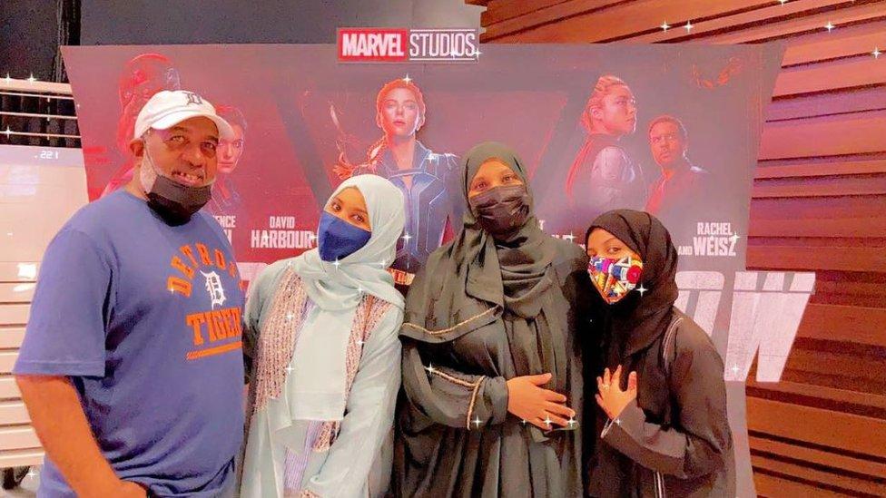 Hannan Abubakar with her family