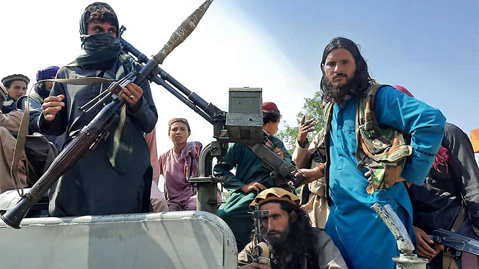 Taliban fighters in the Laghman province, close to Kabul, August 15 2021