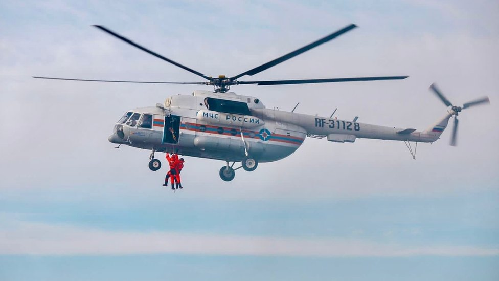 Some 6,000 people were taking part in the large-scale Arctic drill
