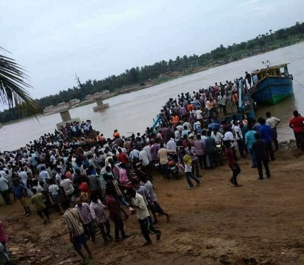Scene from the place where the accident took place in 2019 on the River Godavari