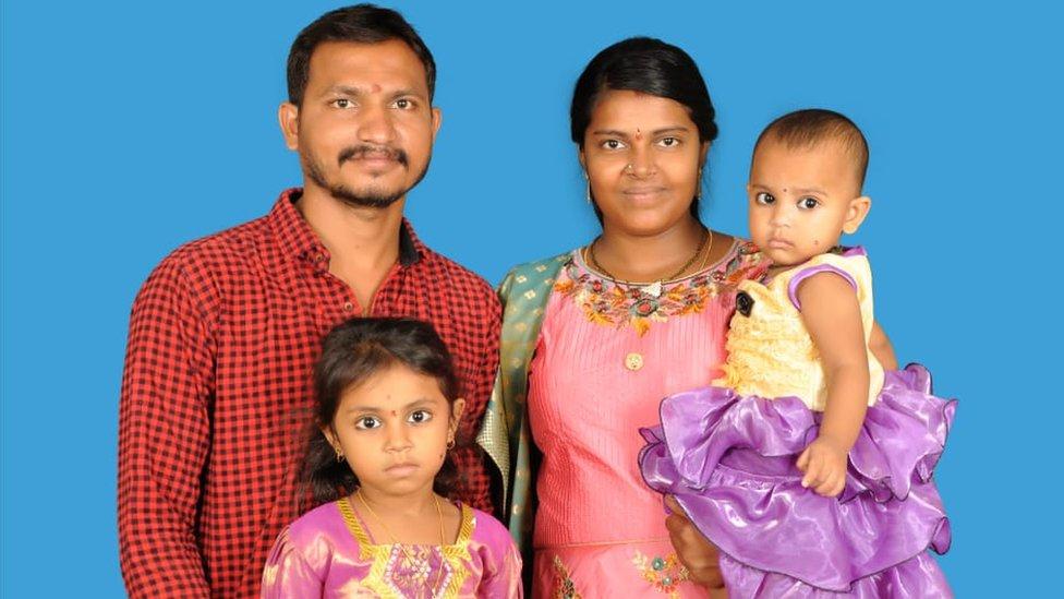 Bhagyalakshmi and Appala Raju along with their kids